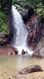 enjoying-the-waterfall