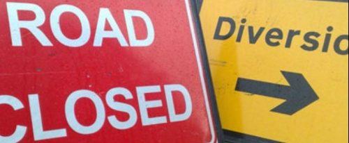 Road Closed 16th-17th April