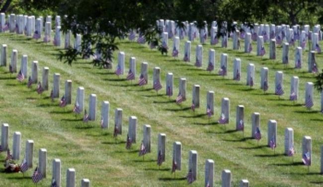 Tombstones in Graveyard